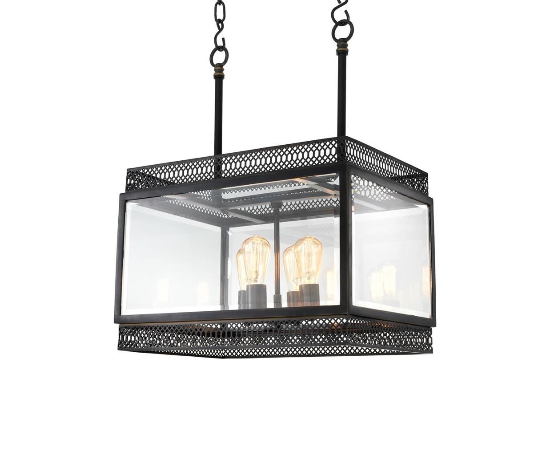 Подвесной светильникЛюстры подвесные<br>Подвесной светильник Chandelier Roma S с оригинальным дизайном выполнен из металла цвета пушечная бронза. Створки плафона из прозрачного стекла. Высота светильника регулируется за счет звеньев цепи. Лампочки из серии Bulb&amp;amp;nbsp;представлены на нашем сайте и приобретаются отдельно.&amp;lt;div&amp;gt;&amp;lt;br&amp;gt;&amp;lt;/div&amp;gt;&amp;lt;div&amp;gt;&amp;lt;div&amp;gt;Тип цоколя: E14&amp;lt;/div&amp;gt;&amp;lt;div&amp;gt;Мощность: 40W&amp;lt;/div&amp;gt;&amp;lt;div&amp;gt;Кол-во ламп: 4 &amp;amp;nbsp;(нет в комплекте)&amp;lt;/div&amp;gt;&amp;lt;/div&amp;gt;<br><br>Material: Металл<br>Width см: 60<br>Depth см: 38<br>Height см: 84