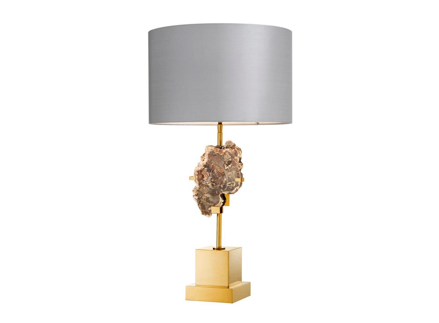 Настольная лампаДекоративные лампы<br>Настольная лампа Table Lamp Divini на основании из металла золотого цвета. Декор: натуральный древесный элемент на основании. Текстильный абажур серебристо-серого цвета скрывает лампу.&amp;lt;div&amp;gt;&amp;lt;br&amp;gt;&amp;lt;/div&amp;gt;&amp;lt;div&amp;gt;&amp;lt;div&amp;gt;Тип цоколя: E27&amp;lt;/div&amp;gt;&amp;lt;div&amp;gt;Мощность: 40W&amp;lt;/div&amp;gt;&amp;lt;div&amp;gt;Кол-во ламп: 1 (нет в комплекте)&amp;lt;/div&amp;gt;&amp;lt;/div&amp;gt;<br><br>Material: Металл<br>Высота см: 74