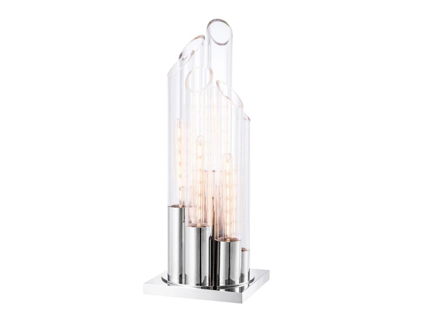Настольная лампаДекоративные лампы<br>Настольная лампа Table Lamp Paradiso с базой из никелированного металла. Разноуровневые плафоны-колбы из прозрачного стекла.&amp;lt;div&amp;gt;&amp;lt;br&amp;gt;&amp;lt;/div&amp;gt;&amp;lt;div&amp;gt;&amp;lt;div&amp;gt;Тип цоколя: E14&amp;lt;/div&amp;gt;&amp;lt;div&amp;gt;Мощность: 40W&amp;lt;/div&amp;gt;&amp;lt;div&amp;gt;Кол-во ламп: 6 (нет в комплекте)&amp;lt;/div&amp;gt;&amp;lt;/div&amp;gt;<br><br>Material: Металл<br>Ширина см: 30<br>Высота см: 80<br>Глубина см: 30