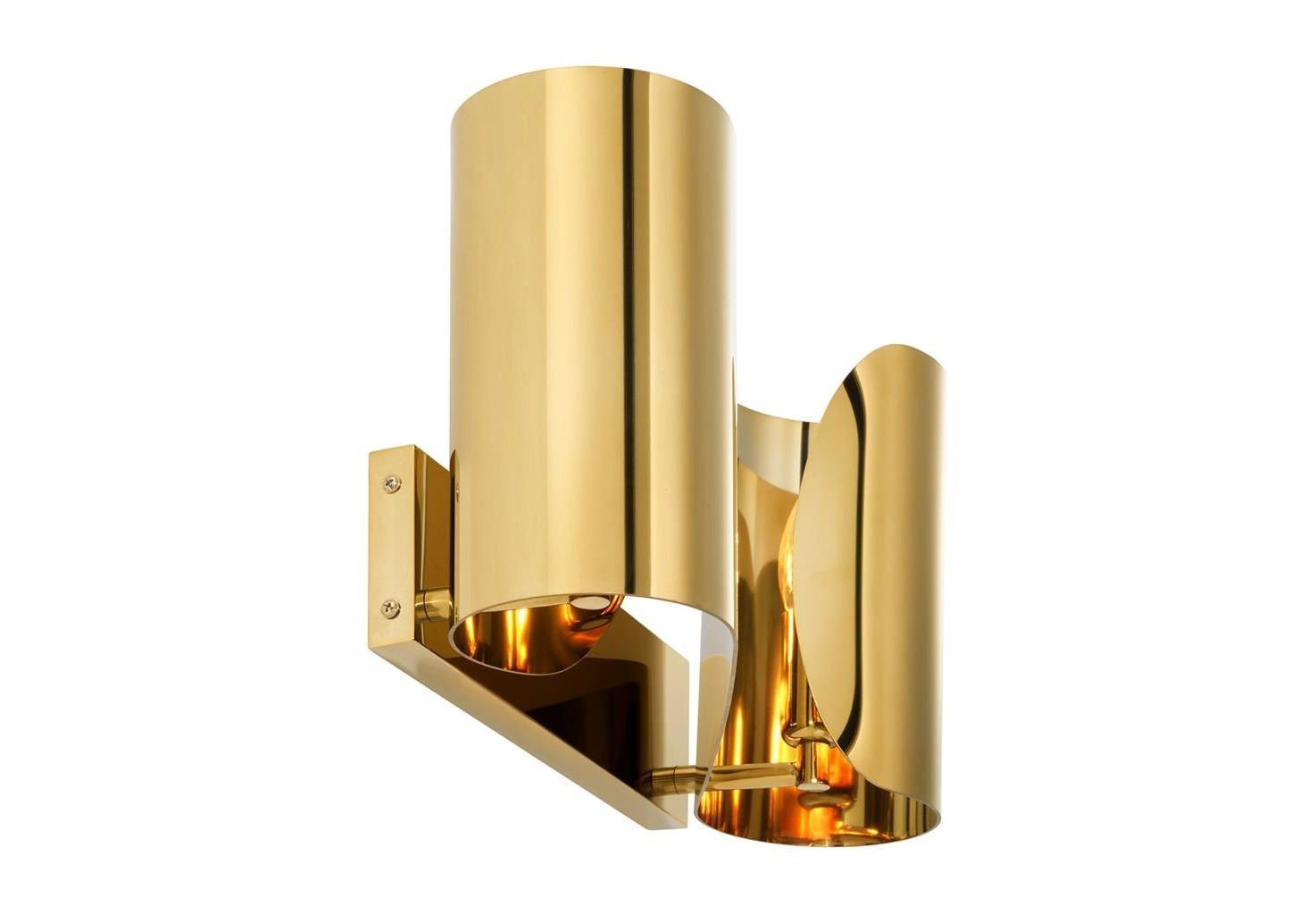 Настенный светильникБра<br>Настенный светильник Wall Lamp Crawley выполнен из металла золотого цвета.&amp;lt;div&amp;gt;&amp;lt;br&amp;gt;&amp;lt;/div&amp;gt;&amp;lt;div&amp;gt;&amp;lt;div&amp;gt;Тип цоколя: E14&amp;lt;/div&amp;gt;&amp;lt;div&amp;gt;Мощность: 40W&amp;lt;/div&amp;gt;&amp;lt;div&amp;gt;Кол-во ламп: 2 (нет в комплекте)&amp;lt;/div&amp;gt;&amp;lt;/div&amp;gt;<br><br>Material: Металл