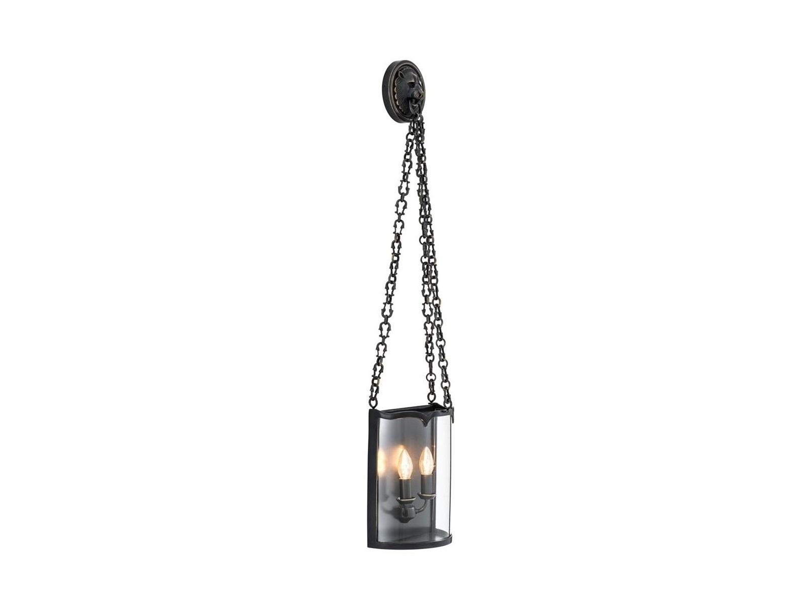 Настенный светильникБра<br>Настенный светильник Wall Lamp Giuliana выполнен из металла цвета пушечная бронза. Плафон из прозрачного стекла свисает на декоративной металлической цепи. Дизайн ламп в виде свечей в подсвечниках.&amp;lt;div&amp;gt;&amp;lt;br&amp;gt;&amp;lt;/div&amp;gt;&amp;lt;div&amp;gt;&amp;lt;div&amp;gt;Тип цоколя: E14&amp;lt;/div&amp;gt;&amp;lt;div&amp;gt;Мощность: 40W&amp;lt;/div&amp;gt;&amp;lt;div&amp;gt;Кол-во ламп: 2 (нет в комплекте)&amp;lt;/div&amp;gt;&amp;lt;/div&amp;gt;<br><br>Material: Металл<br>Ширина см: 26<br>Высота см: 110<br>Глубина см: 3