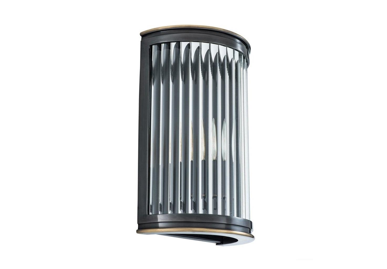 Настенный светильникБра<br>Настенный светильник Wall Lamp Alice выполнен из металла цвета пушечная бронза. Плафон выполнен из прозрачного фактурного стекла.&amp;lt;div&amp;gt;&amp;lt;br&amp;gt;&amp;lt;/div&amp;gt;&amp;lt;div&amp;gt;&amp;lt;div&amp;gt;Тип цоколя: E14&amp;lt;/div&amp;gt;&amp;lt;div&amp;gt;Мощность: 40W&amp;lt;/div&amp;gt;&amp;lt;div&amp;gt;Кол-во ламп: 1 (нет в комплекте)&amp;lt;/div&amp;gt;&amp;lt;/div&amp;gt;<br><br>Material: Металл<br>Width см: 21<br>Depth см: 11<br>Height см: 31,5