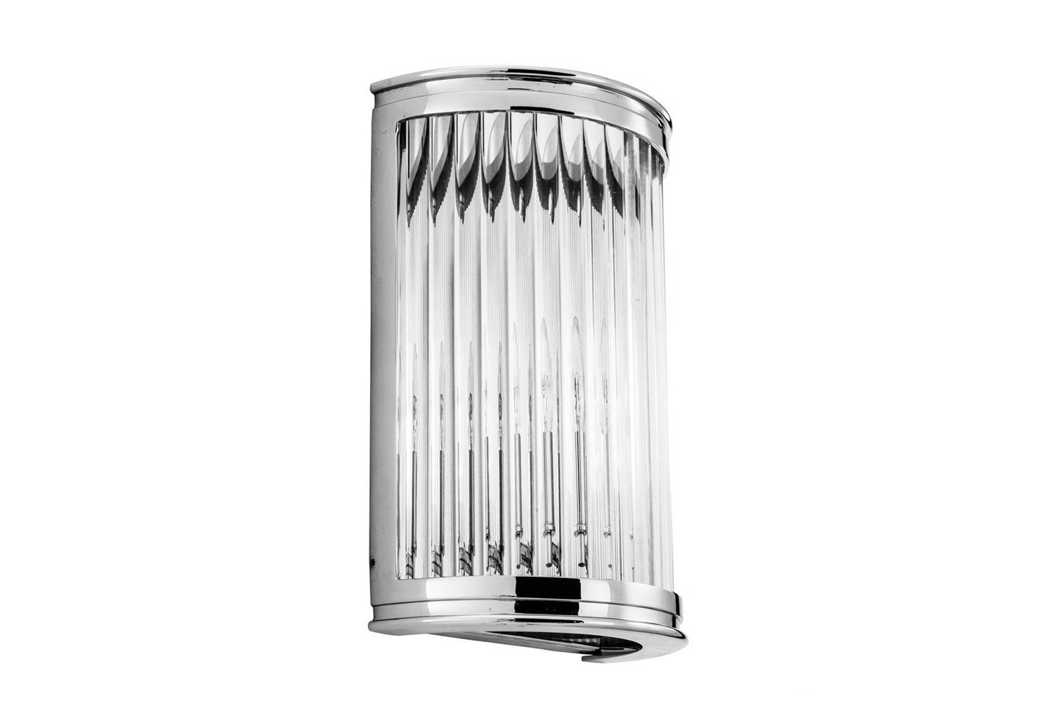 Настенный светильникБра<br>Настенный светильник Wall Lamp Alice выполнен из никелированного металла. Плафон выполнен из прозрачного фактурного стекла.&amp;lt;div&amp;gt;&amp;lt;br&amp;gt;&amp;lt;/div&amp;gt;&amp;lt;div&amp;gt;&amp;lt;div&amp;gt;Тип цоколя: E14&amp;lt;/div&amp;gt;&amp;lt;div&amp;gt;Мощность: 40W&amp;lt;/div&amp;gt;&amp;lt;div&amp;gt;Кол-во ламп: 1 (нет в комплекте)&amp;lt;/div&amp;gt;&amp;lt;/div&amp;gt;<br><br>Material: Металл<br>Ширина см: 21<br>Высота см: 31<br>Глубина см: 11
