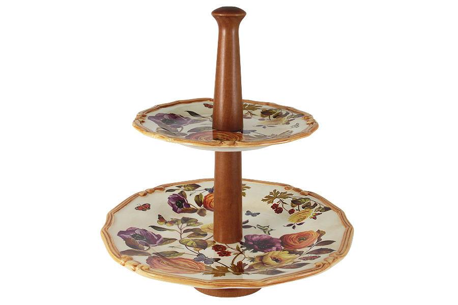 Ваза для фруктов ЭлегансПодставки и доски<br><br><br>Material: Керамика<br>Height см: 30<br>Diameter см: 33