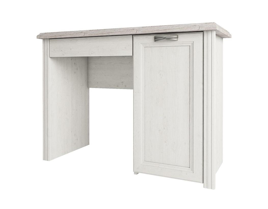 Стол MonakoПисьменные столы<br>Классическая мебель всегда привлекает ценителей гармоничного интерьера дома. Выдержанный стиль коллекции MONAKO, благородное сочетание двух цветовых гамм - сосна винтаж и дуб анкона - создадут приятную обстановку Вашего дома.  Оригинальные металлические ручки и патина на декоративных элементах делают эту коллекцию очень элегантной, а большой модельный ряд позволит обустроить достойный интерьер.<br><br>Material: ДСП<br>Width см: 100<br>Depth см: 42<br>Height см: 72.4