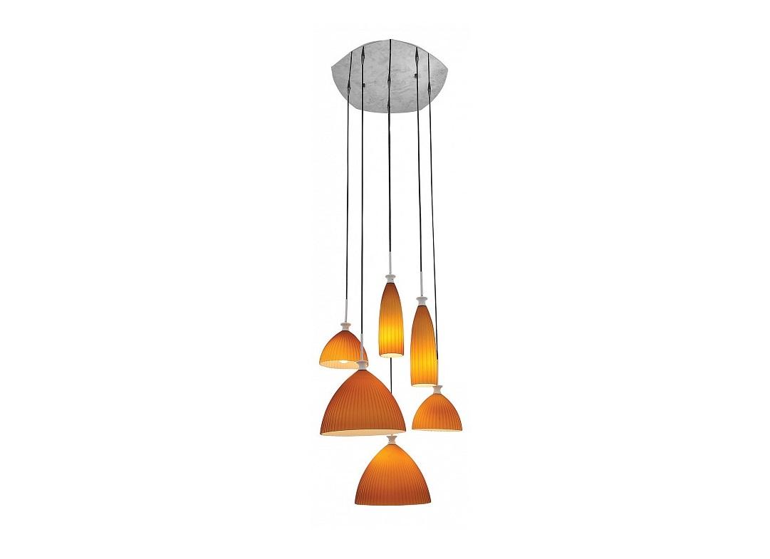 Подвесной светильник agola (lightstar) оранжевый 60 см. фото