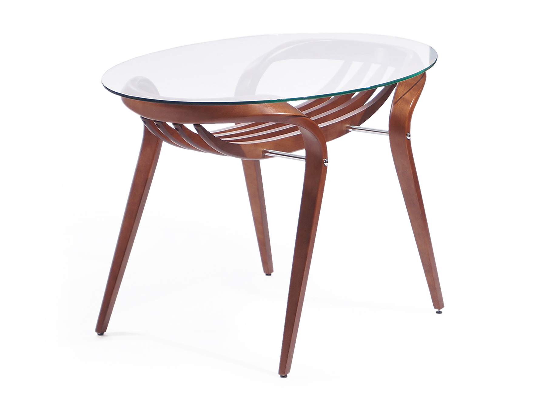 """Cтол обеденный AprioriОбеденные столы<br>В сегодняшнее время высоких технологий и динамичности, особой популярностью пользуется мебель, выполненная в стиле арт-деко, как, например этот обеденный стол """"Apriori"""". Пластичность натуральных материалов в сочетании со стеклянной столешницей дарят неповторимый шарм и легкость.<br><br>Material: Стекло<br>Length см: None<br>Width см: 120<br>Depth см: 80<br>Height см: 75"""