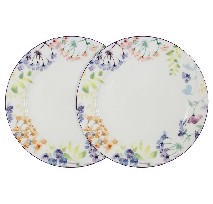 Набор обеденных тарелок Акварель (2шт.)Тарелки<br><br><br>Material: Керамика<br>Высота см: 2