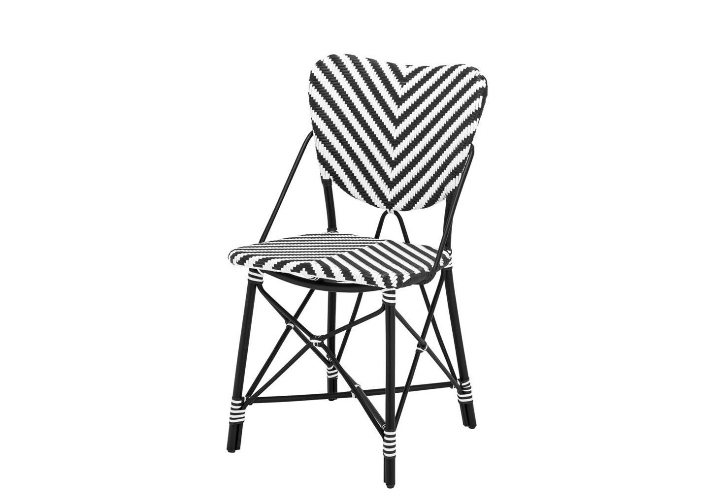 СтулСтулья для сада<br>Стул Chair Colony выполнен из ротанга с черно-белым орнаментом.<br><br>Material: Ротанг