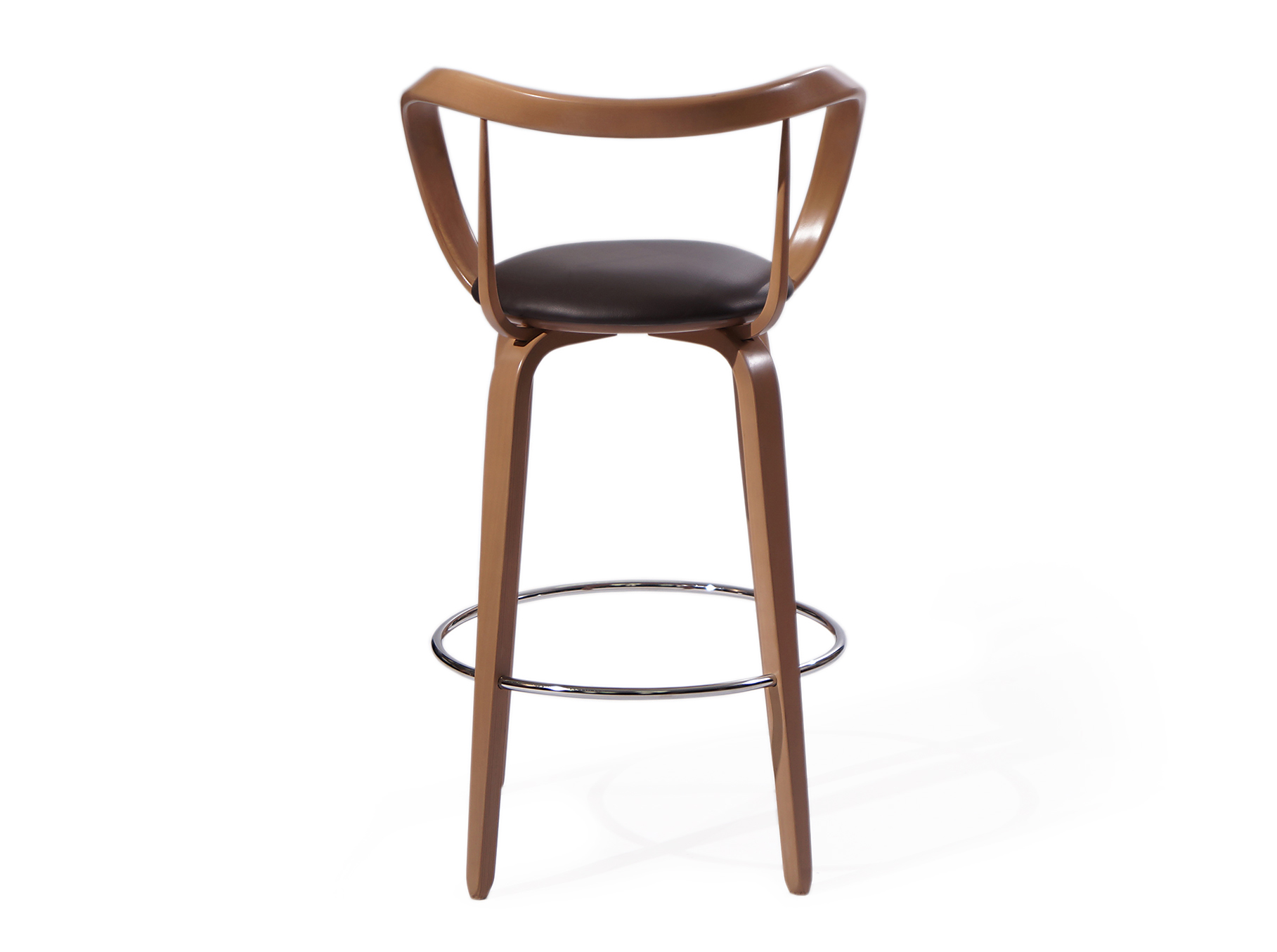 """Стул барный """"Apriori""""Барные стулья<br>Модным явлением для оригинальных интерьеров стали барные стулья, позволяющие окунуться в особую атмосферу непринужденного отдыха. Внести изюминку в оформление вашего бара или столовой помогут стулья «Априори», в которых оригинальный дизайн идеально гармонирует с практичностью: удобная спинка с подножкой располагают к неспешной беседе.<br><br>Material: Дерево<br>Length см: None<br>Width см: 53<br>Depth см: 53<br>Height см: 100"""
