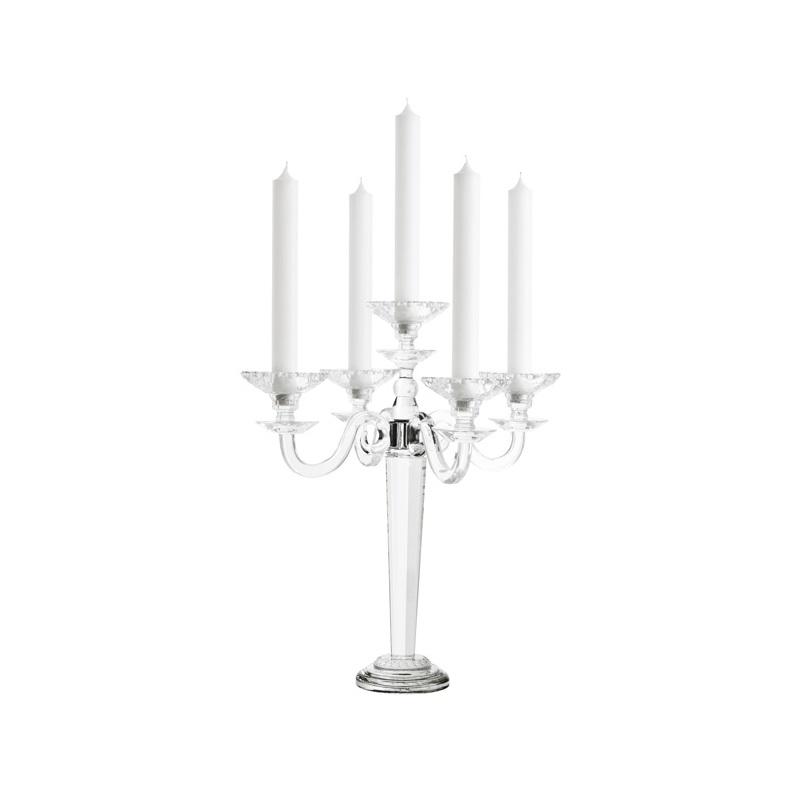 КанделябрПодсвечники<br>Канделябр Candle Holder Crawford S выполнен из прозрачного стекла.<br><br>Material: Стекло<br>Высота см: 38