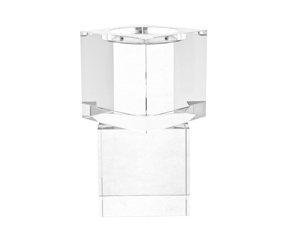 Канделябр (2шт)Подсвечники<br>Набор из 2-х канделябров Candle Holder Wyndham set of 2 из прозрачного стекла.<br><br>Material: Стекло<br>Ширина см: 14<br>Высота см: 20<br>Глубина см: 14