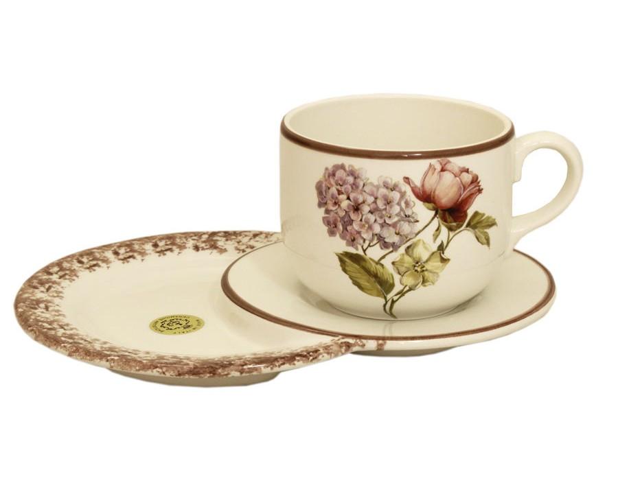Чашка на маленьком подносе Сады ФлоренцииЧайные пары, чашки и кружки<br>Объем:&amp;amp;nbsp;0,5 л.<br><br>Material: Керамика<br>Width см: 25<br>Depth см: 18<br>Height см: 10