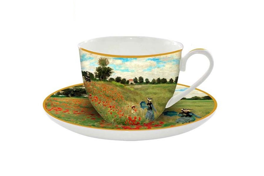 Чашка с блюдцем Маковое поле (Моне)Чайные пары, чашки и кружки<br>&amp;lt;span style=&amp;quot;font-size: 14px;&amp;quot;&amp;gt;Объем:&amp;amp;nbsp;0,25 л.&amp;lt;/span&amp;gt;<br><br>Material: Фарфор<br>Ширина см: 12<br>Высота см: 8<br>Глубина см: 9