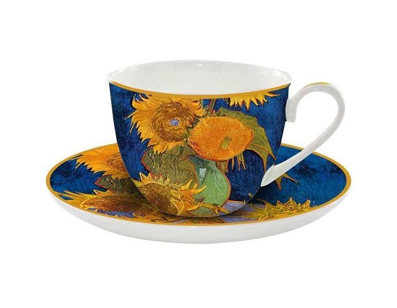 Чашка с блюдцем Подсолнухи (Ван Гог)Чайные пары, чашки и кружки<br>&amp;lt;span style=&amp;quot;font-size: 14px;&amp;quot;&amp;gt;Объем:&amp;amp;nbsp;0,25 л.&amp;lt;/span&amp;gt;<br><br>Material: Фарфор<br>Ширина см: 12<br>Высота см: 8<br>Глубина см: 9