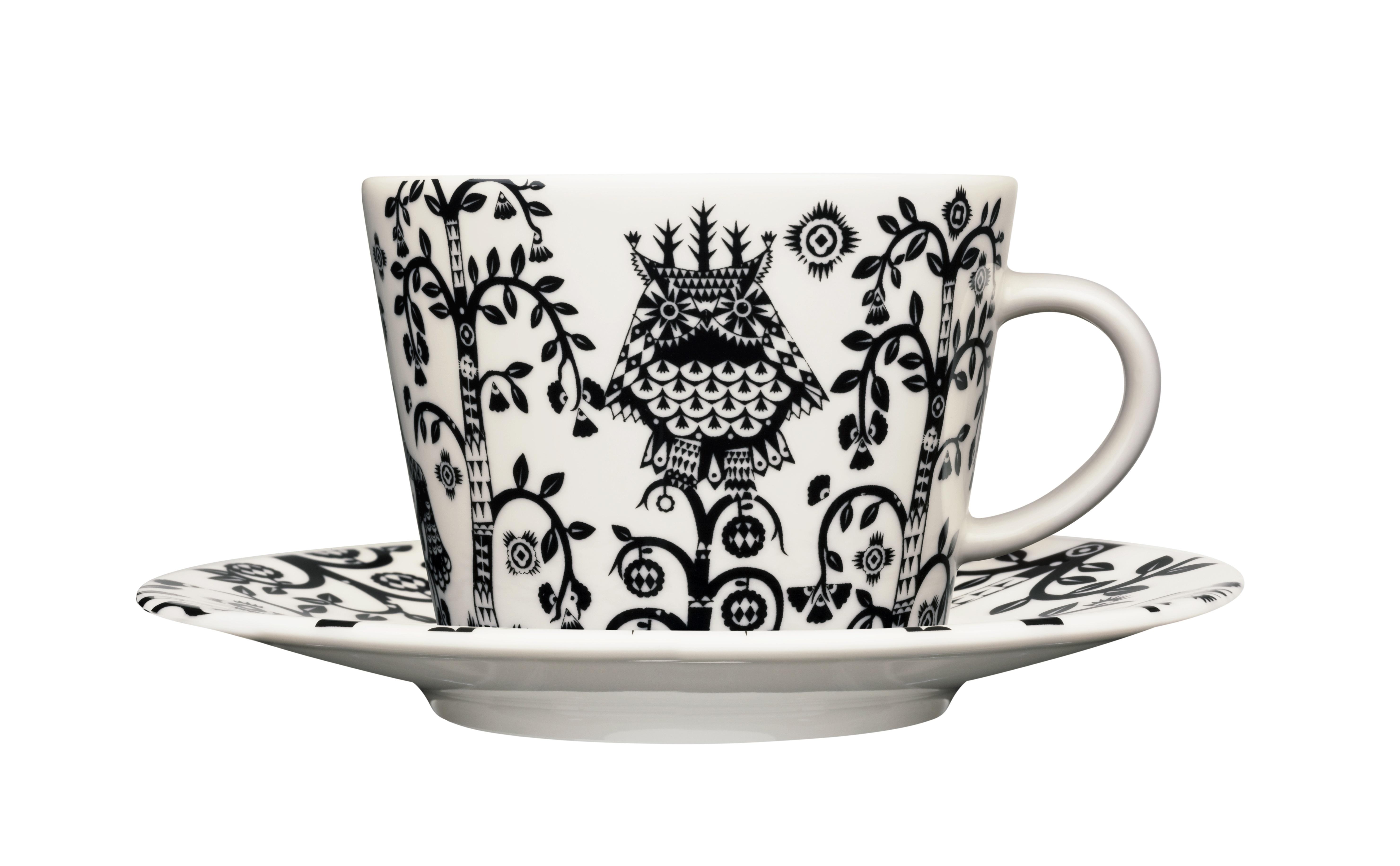 Чашка для кофе капучино TaikaЧайные пары, чашки и кружки<br>На финском языке Taika означает «волшебство». Знаменитый финиский дизайнер и иллюстратор Klaus Haapaniemi хочет, чтобы его иллюстрации дали толчок вашему воображению. В сочетании с другими сериями Iittala, Taika позволяет прикоснуться к миру фантазии, впустить волшебство в нашу повседневную жизнь.<br><br>Material: Фарфор<br>Ширина см: 10<br>Высота см: 6<br>Глубина см: 9