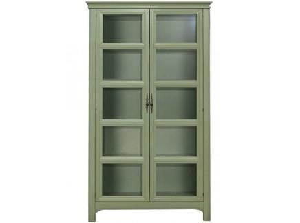 Витрина olivia (etg-home) зеленый 100.0x220.0x40.0 см.