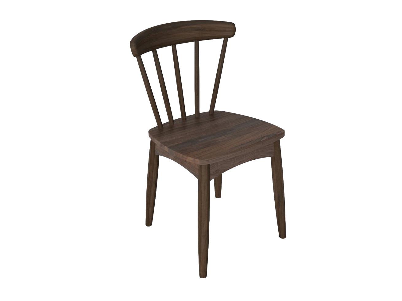 Стул TwistОбеденные стулья<br>Стул из массива американского черного ореха коллекции Twist.<br><br>Material: Орех<br>Length см: None<br>Width см: 44<br>Depth см: 47<br>Height см: 77<br>Diameter см: None