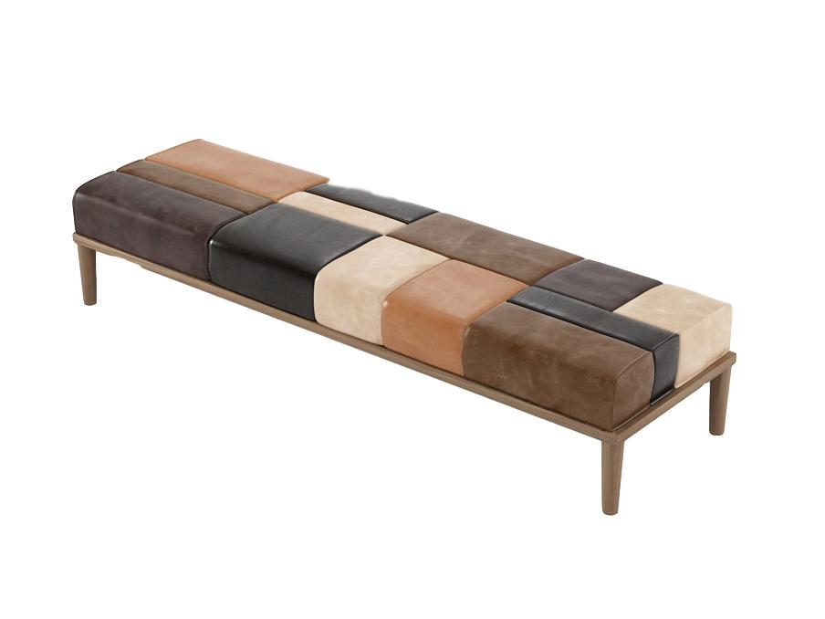 Скамья KatchworkСкамейки<br>Скамья из коллекции Katchwork, каркас из массива тика, сиденье - высококачественная натуральная кожа.<br><br>Material: Кожа<br>Ширина см: 152<br>Высота см: 35<br>Глубина см: 50