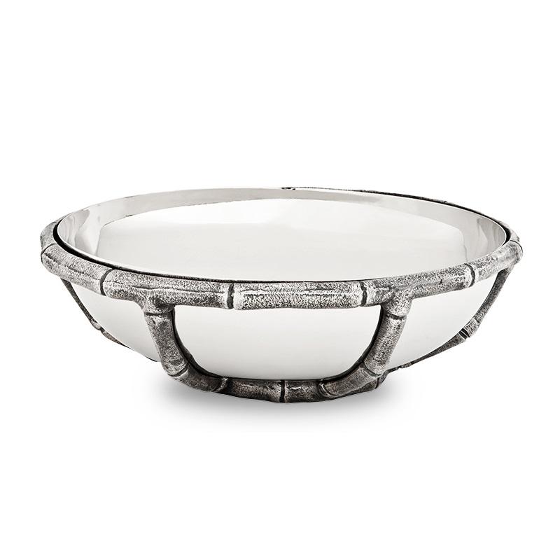ПиалаМиски и чаши<br>Миска Bowl Haiti выполнена из никелированного металла с декоративным основанием ручной работы из металла цвета античное серебро.<br><br>Material: Металл<br>Height см: 8,5<br>Diameter см: 27