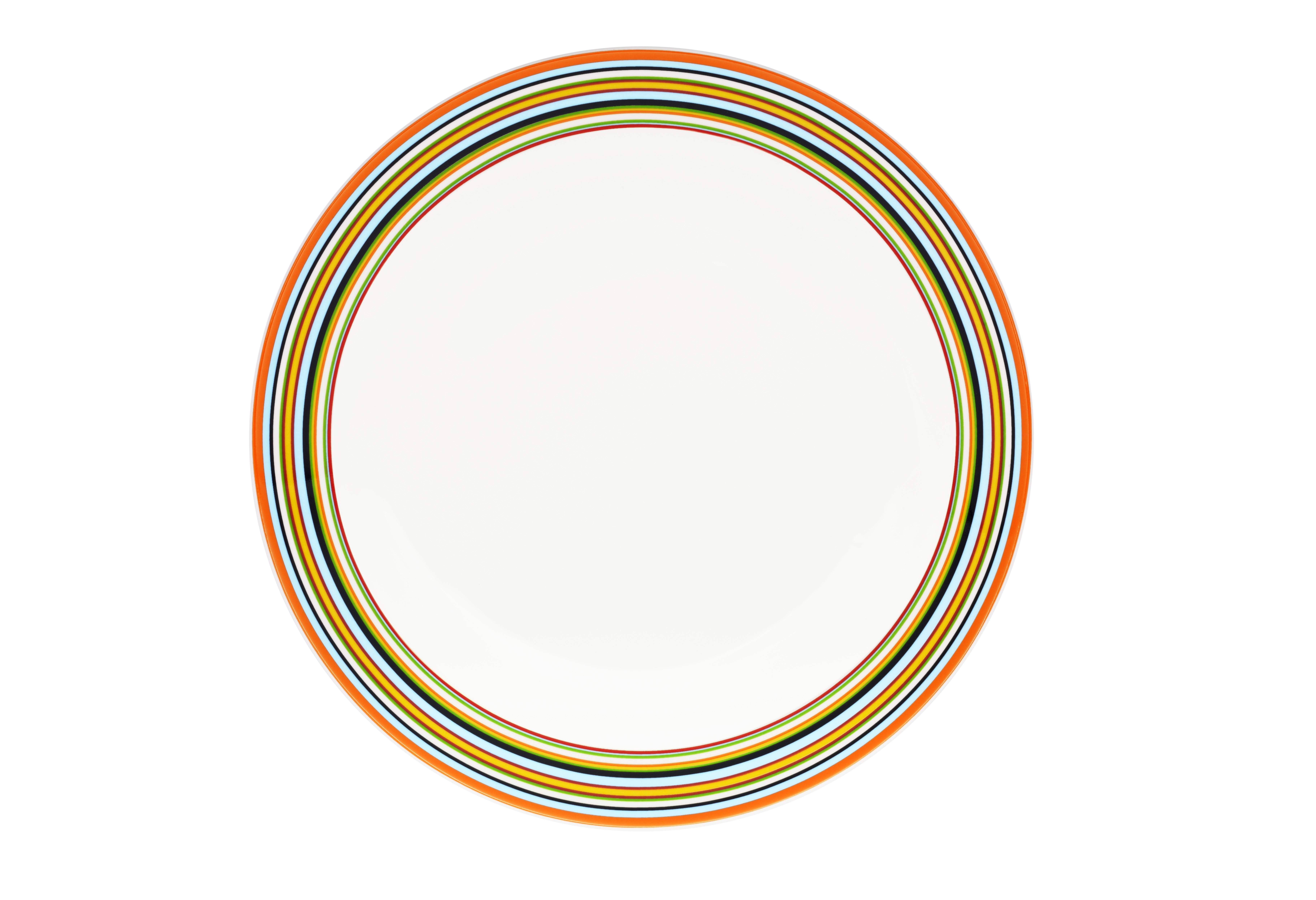 Тарелка OrigoТарелки<br>Смелый полосатый рисунок посуды серии Origo будет свежо смотреться на любой кухне. Посуда прекрасно сочетается с посудой других серий Iittala и подходит для приёма любой пищи. Впервые серия вышла 1999 году и с того момента стала невероятно популярной во всем мире.<br><br>Material: Фарфор<br>Высота см: 2