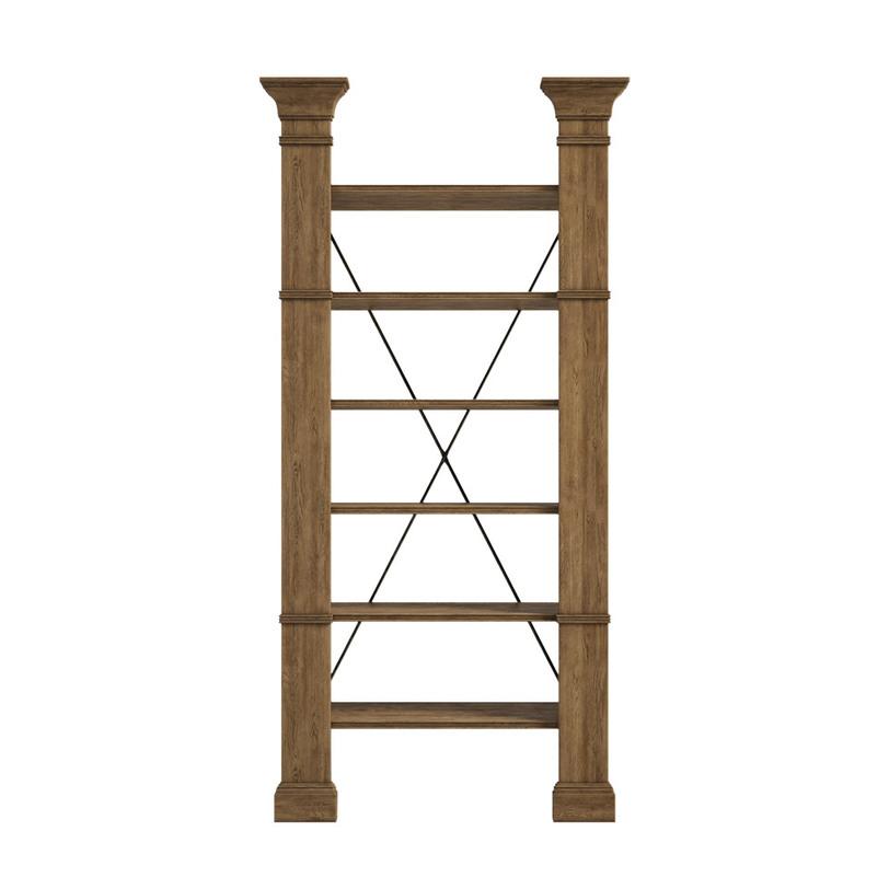 Стеллаж книжный XAVIERСтеллажи и этажерки<br>Книжный стеллаж в английском стиле из дерева в форме колонн, связанных тонкими полочками и металлическими нитями на спинке. Небольшие пилястры намекают об аристократическом происхождении предмета.<br><br>Material: Дерево<br>Width см: 114<br>Depth см: 39<br>Height см: 239
