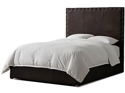 Мягкая кровать falcon (myfurnish) коричневый 170x150x215 см.