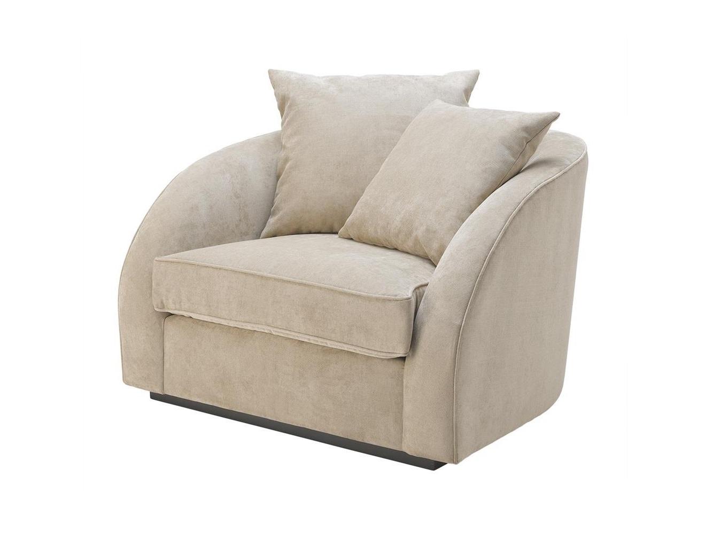 Кресло Les PalmiersИнтерьерные кресла<br>Кресло Les Palmiers на основании из дерева черного цвета.&amp;amp;nbsp;&amp;lt;div&amp;gt;Состав ткани: 85% терилен, 15% нейлон.&amp;lt;/div&amp;gt;<br><br>Material: Текстиль