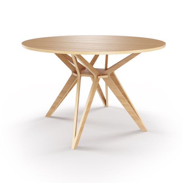 Стол HagforsОбеденные столы<br>Hagfors – это стол, необычный дизайн которого создаст изящный акцент в вашем интерьере. Отделка шпоном дуба. Сборка не требуется. Возможен в диаметрах 60, 90, 100, 120 и 148см.<br><br>Material: Фанера<br>Height см: 75<br>Diameter см: 148