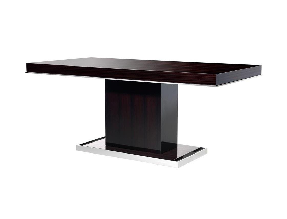 Стол Park AvenueОбеденные столы<br>Обеденный стол &amp;quot;Park Avenue&amp;quot; на базе из полированной нержавеющей стали. Основание и столешница выполнены из лакированного темного дерева.<br><br>Material: Дерево<br>Width см: 182<br>Depth см: 91,5<br>Height см: 77