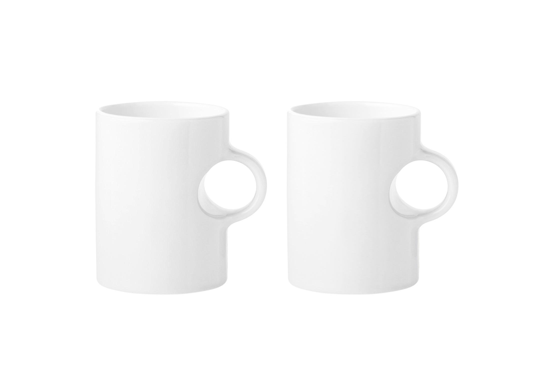 Набор кружек Classic (2шт)Чайные пары, чашки и кружки<br>Набор из 2х кружек Classic. Объем каждой кружки 300мл.Круг кружки создает ручку. Прекрасно сочетается с вакуумным термосом EM77. Допустимо мытье в посудомоечной машине.<br><br>Material: Керамика<br>Width см: None<br>Depth см: None<br>Height см: 10.5<br>Diameter см: 8