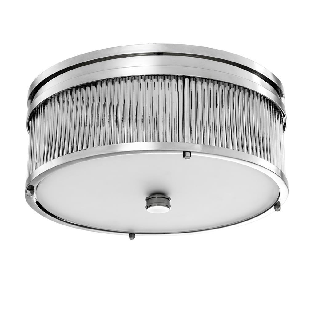 Потолочный светильникПотолочные светильники<br>Потолочный светильник Ceiling Lamp Stamford выполнен из никелированного металла. Плафон выполнен из фактурного прозрачного стекла. Нижняя часть плафона из матового белого стекла.&amp;lt;div&amp;gt;&amp;lt;br&amp;gt;&amp;lt;/div&amp;gt;&amp;lt;div&amp;gt;&amp;lt;div&amp;gt;Тип цоколя: E14&amp;lt;/div&amp;gt;&amp;lt;div&amp;gt;Мощность: 40W&amp;lt;/div&amp;gt;&amp;lt;div&amp;gt;Кол-во ламп: 4 (нет в комплекте)&amp;lt;/div&amp;gt;&amp;lt;/div&amp;gt;<br><br>Material: Металл<br>Height см: 16,5<br>Diameter см: 40