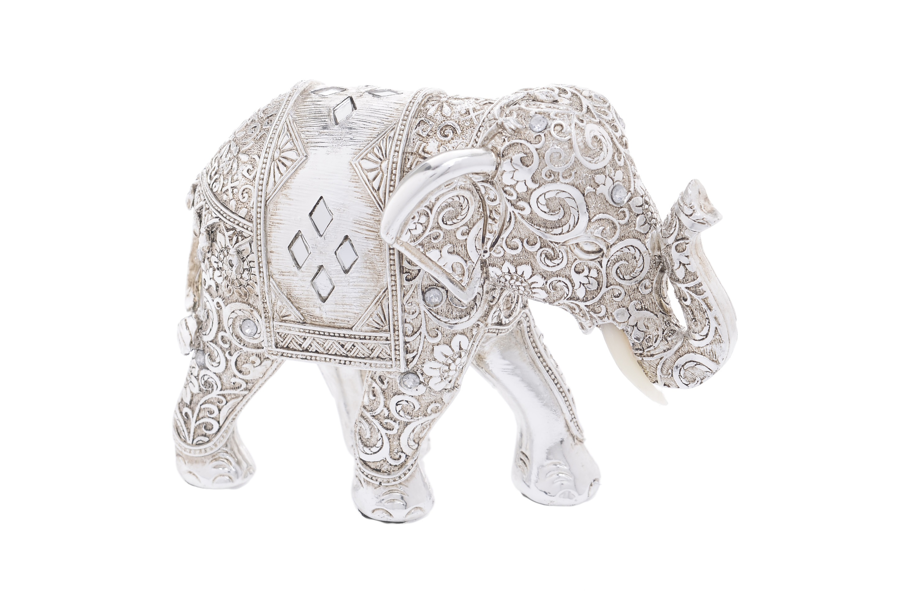 Статуэтка слон FendaraСтатуэтки<br>Материал: полистоун, стразы<br><br>Material: Пластик<br>Width см: 14<br>Depth см: 6<br>Height см: 10.5