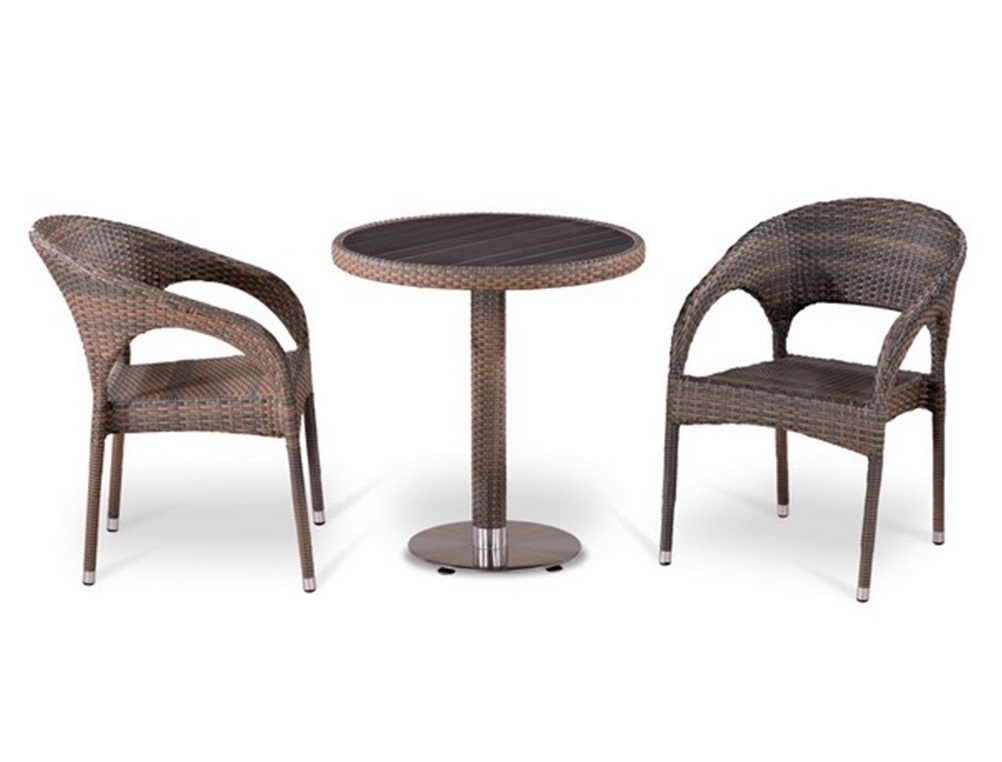 Комплект мебелиКомплекты уличной мебели<br>Комплект уличной мебели - 2 кресла и стол&amp;lt;div&amp;gt;Стол: D70xH74 см.  <br>Столешница: древесно-полимерный композит&amp;lt;/div&amp;gt;&amp;lt;div&amp;gt;Кресло: W58xD63xH79  см.  <br>Каркас: сталь. <br>Материал: искусственный ротанг&amp;amp;nbsp;&amp;lt;/div&amp;gt;<br><br>Material: Искусственный ротанг<br>Width см: None<br>Depth см: 6<br>Height см: 74<br>Diameter см: 70