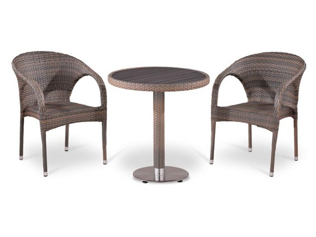 Комплект мебелиКомплекты уличной мебели<br>Стол: D70xH74 см.  <br>Столешница: древесно-полимерный композит&amp;amp;nbsp;&amp;lt;div&amp;gt;Кресло: W59xD63xH81  см.<br>Каркас: сталь. <br>Материал: искусственный ротанг&amp;lt;/div&amp;gt;<br><br>Material: Искусственный ротанг<br>Высота см: 74