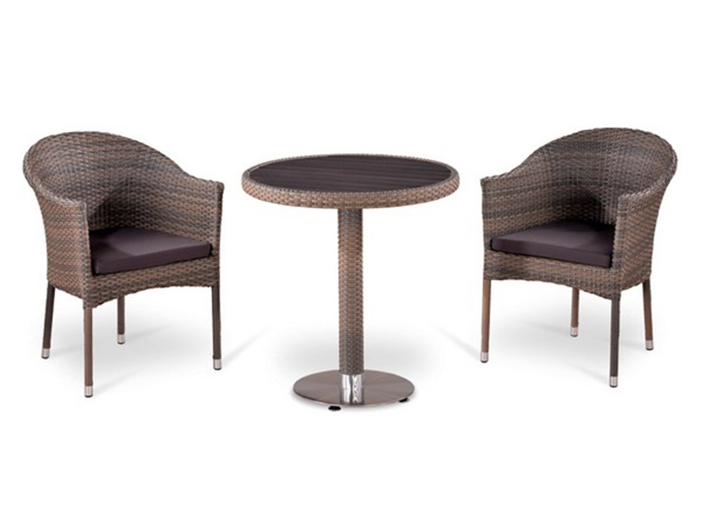 Комплект мебелиКомплекты уличной мебели<br>Стол: D70xH74 см.  <br>Столешница: древесно-полимерный композит&amp;amp;nbsp;&amp;lt;div&amp;gt;Кресло: W57xD61xH79  см.<br>Каркас: сталь. <br>Материал: искусственный ротанг&amp;amp;nbsp;&amp;lt;/div&amp;gt;<br><br>Material: Искусственный ротанг<br>Высота см: 74