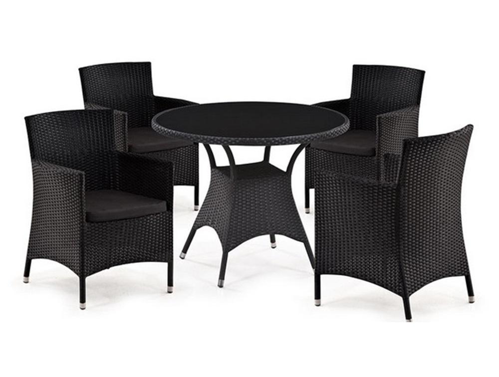 Комплект мебелиКомплекты уличной мебели<br>Стол: D96xH74 см.                                          <br>Стекло:закаленное-6 мм. (Тонированное,черное).&amp;amp;nbsp;&amp;lt;div&amp;gt;Кресло: W60xD63xH87   см.                              <br>Каркас: сталь.  <br>Материал: искусственный ротанг. &amp;amp;nbsp;Подушки для сидения (4см.) в комплекте.&amp;amp;nbsp;&amp;lt;/div&amp;gt;&amp;lt;div&amp;gt;&amp;lt;br&amp;gt;&amp;lt;/div&amp;gt;&amp;lt;div&amp;gt;В комплекте 2 стула.&amp;lt;/div&amp;gt;<br><br>Material: Искусственный ротанг<br>Высота см: 74