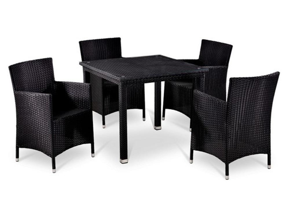 Комплект мебелиКомплекты уличной мебели<br>Стол: L90x90xH74 см. <br>Каркас: сталь <br>Стекло: закаленное - 5 мм&amp;lt;div&amp;gt;Кресло: W60xD63xH87  см. <br>Каркас: алюминий<br>Материал: искусственный ротанг.&amp;lt;/div&amp;gt;<br><br>Material: Искусственный ротанг<br>Ширина см: 90<br>Высота см: 74<br>Глубина см: 90