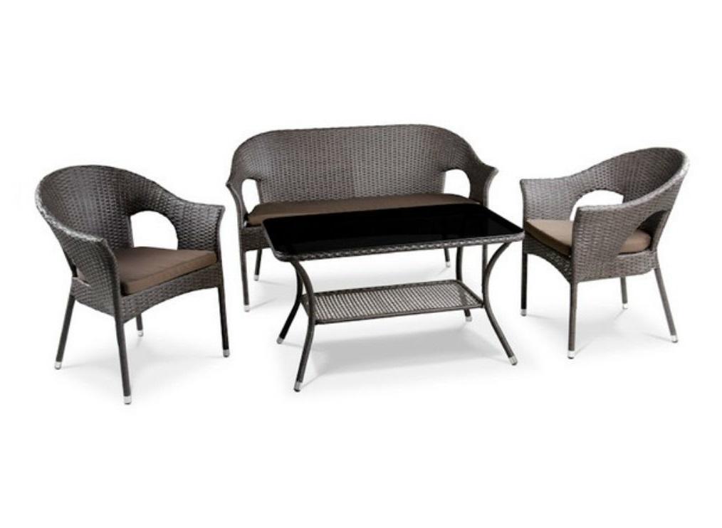 Комплект мебелиКомплекты уличной мебели<br>Диван: W128xD62xH86 см.&amp;amp;nbsp;&amp;lt;div&amp;gt;Кресло: W58xD63xH86 см.&amp;amp;nbsp;&amp;lt;/div&amp;gt;&amp;lt;div&amp;gt;Стол: L98xW58xH55 см. <br>Стекло: закаленное-5мм.                              <br>Каркас: сталь. <br>Материал: искусственный ротанг. Подушки для сидения (4см.) в комплекте.&amp;lt;/div&amp;gt;<br><br>Material: Искусственный ротанг<br>Ширина см: 128<br>Высота см: 86<br>Глубина см: 62