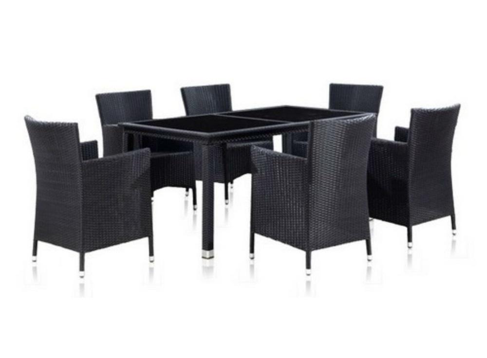Комплект мебелиКомплекты уличной мебели<br>Стол: L160xW90xH75 см.  <br>Стекло: закаленное - 6 мм.&amp;amp;nbsp;&amp;lt;div&amp;gt;Кресло: W60xD63xH87  см. <br>Каркас: сталь. <br>Материал: искусственный ротанг.&amp;amp;nbsp;&amp;lt;/div&amp;gt;&amp;lt;div&amp;gt;&amp;lt;br&amp;gt;&amp;lt;/div&amp;gt;<br><br>Material: Искусственный ротанг<br>Ширина см: 160<br>Высота см: 75<br>Глубина см: 90