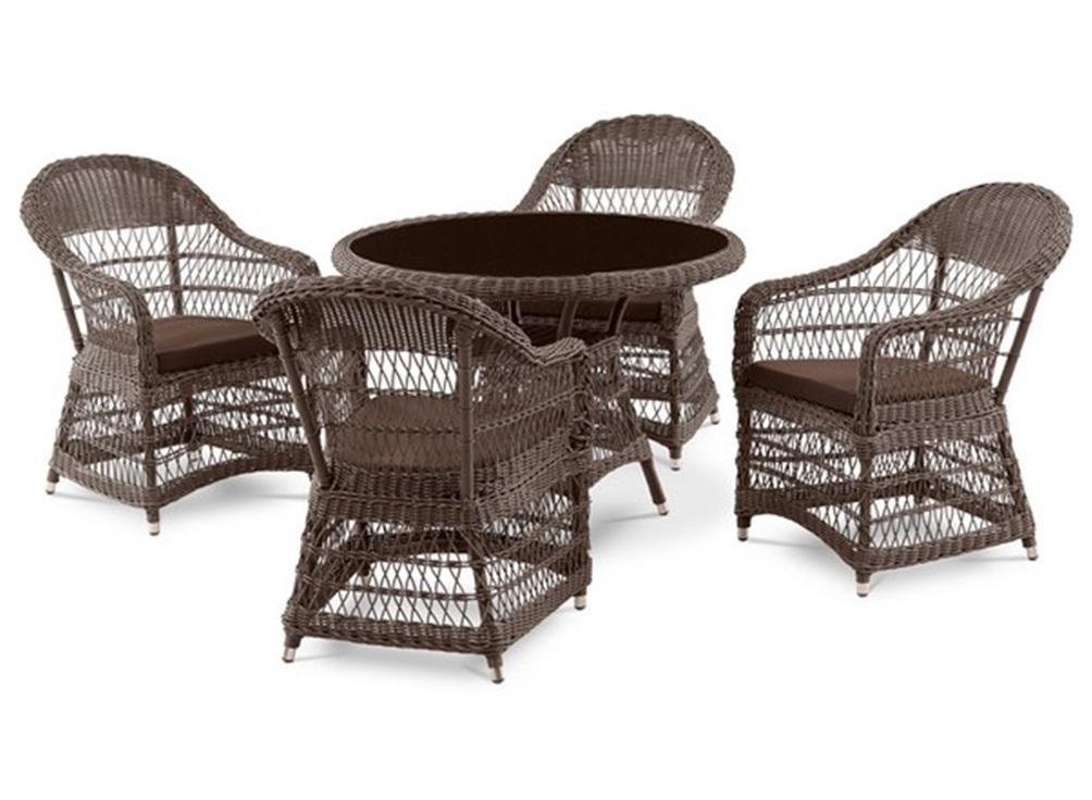 Комплект мебелиКомплекты уличной мебели<br>Стол: D105xH74 см. <br>Стекло: закаленное - 6 мм.&amp;amp;nbsp;&amp;lt;div&amp;gt;Кресло:W63xD74xH90 см. <br>Каркас: сталь. <br>Материал: искусственный ротанг.&amp;amp;nbsp;&amp;lt;/div&amp;gt;&amp;lt;div&amp;gt;Подушки для сидения (5см.) в комплекте.&amp;lt;/div&amp;gt;<br><br>Material: Искусственный ротанг<br>Высота см: 74