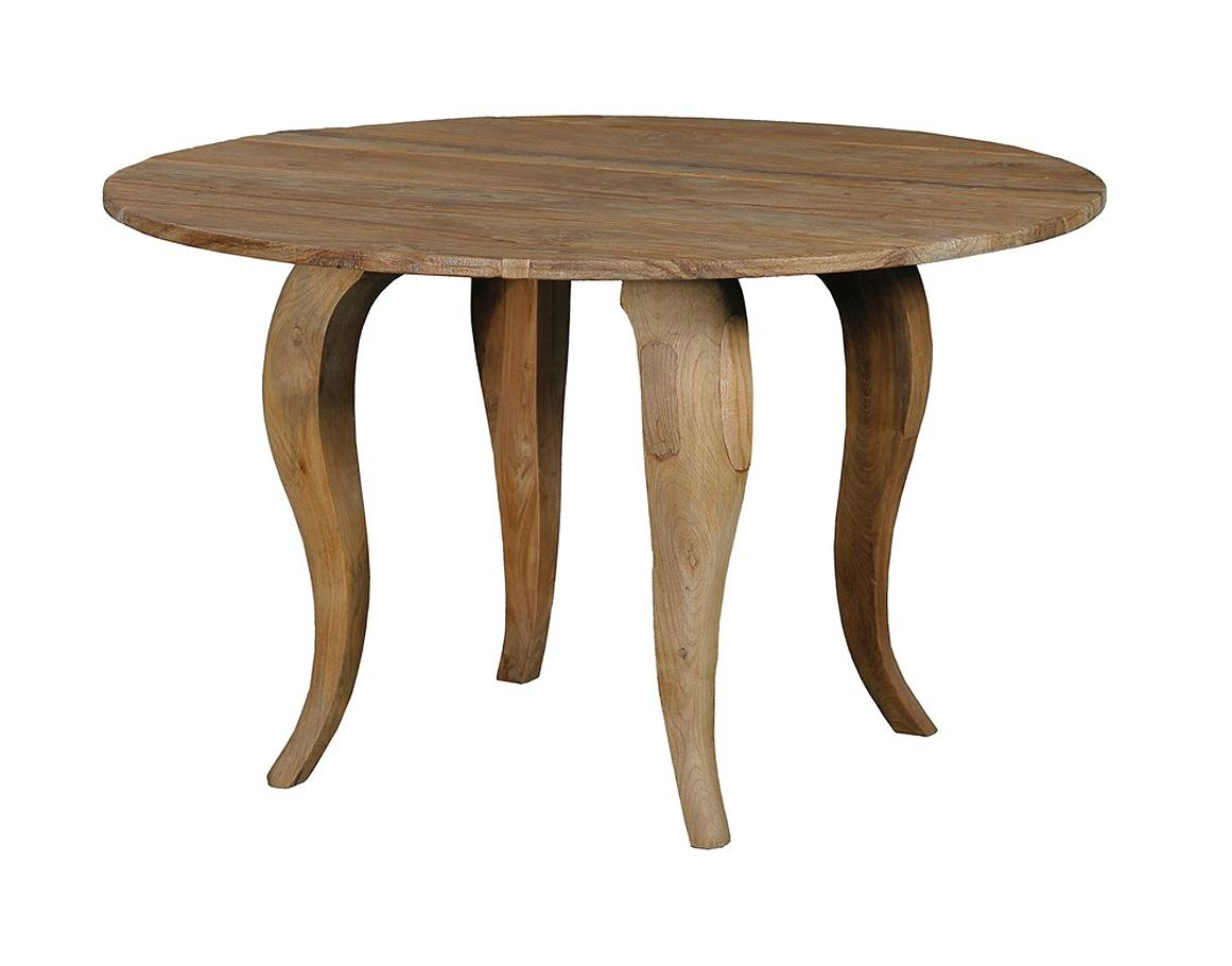 Стол обеденный  Lucy 100Обеденные столы<br>Стол Lucy изящен в своей простоте. Ему пойдет скатерть естественного цвета из натурального материала. Он идеально впишется как в городской интерьер, так и в обстановку загородного дома.<br><br>О возможности изготовления данной модели на заказ уточняйте у оператора.<br><br>Material: Тик<br>Length см: None<br>Width см: None<br>Depth см: None<br>Height см: 78<br>Diameter см: 100
