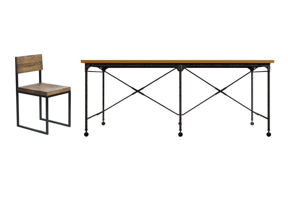 Обеденная группа Industrial (стол + 6 стульев)Комплекты для столовой<br>&amp;lt;div&amp;gt;Размеры стола: 200х80х90&amp;lt;/div&amp;gt;&amp;lt;div&amp;gt;Материалы стола: береза&amp;lt;/div&amp;gt;&amp;lt;div&amp;gt;&amp;lt;br&amp;gt;&amp;lt;/div&amp;gt;&amp;lt;div&amp;gt;Размеры стула: 39х78х45&amp;lt;/div&amp;gt;&amp;lt;div&amp;gt;Стандартная высота сиденья: 45 см. Также возможен вариант повышенной высоты сиденья: 55 см&amp;lt;div&amp;gt;Материалы: дубовый мебельный щит, стальная труба&amp;lt;/div&amp;gt;&amp;lt;div&amp;gt;Возможны другие варианты отделки&amp;lt;/div&amp;gt;&amp;lt;/div&amp;gt;<br><br>Material: Береза<br>Ширина см: 200<br>Высота см: 80<br>Глубина см: 90