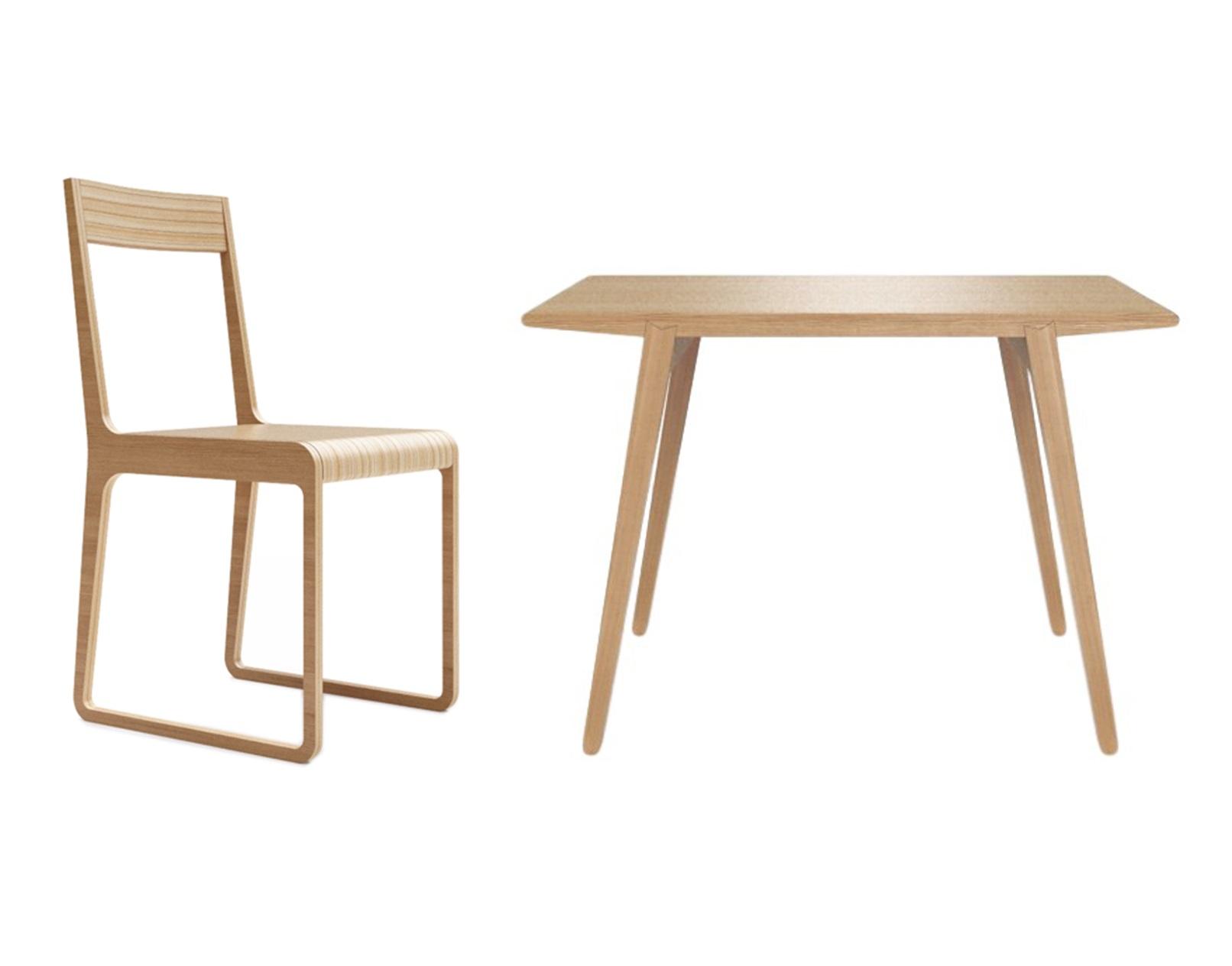 Обеденная группа M?nster?s (стол + 4 стула)Комплекты для столовой<br>&amp;lt;div&amp;gt;&amp;lt;div&amp;gt;Стол M?nster?s сочетает в себе формы футуристичных 60-х и естественность скандинавского дизайна. У стола и стула отделка шпоном дуба.&amp;lt;/div&amp;gt;&amp;lt;div&amp;gt;Данный стол производится в 5 размерах.&amp;lt;/div&amp;gt;&amp;lt;/div&amp;gt;&amp;lt;div&amp;gt;&amp;lt;br&amp;gt;&amp;lt;/div&amp;gt;&amp;lt;div&amp;gt;&amp;lt;div&amp;gt;Размеры стола: 140/70/75&amp;lt;/div&amp;gt;&amp;lt;div&amp;gt;Материал стола: фанера&amp;lt;/div&amp;gt;&amp;lt;div&amp;gt;Размеры стула: 40/51/75&amp;lt;/div&amp;gt;&amp;lt;div&amp;gt;Материал стула: фанера&amp;lt;/div&amp;gt;&amp;lt;/div&amp;gt;<br><br>Material: Фанера<br>Ширина см: 140<br>Высота см: 75<br>Глубина см: 70