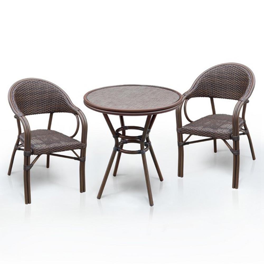 Набор мебелиКомплекты уличной мебели<br>Стол: D70xH74 см.&amp;amp;nbsp;&amp;lt;div&amp;gt;Стекло: закаленное- 5 мм.<br>Каркас: алюминий D28х1,3 мм с полимерным покрытием.<br>Столешница текстилен 4х4.&amp;amp;nbsp;&amp;lt;/div&amp;gt;&amp;lt;div&amp;gt;&amp;lt;br&amp;gt;&amp;lt;/div&amp;gt;&amp;lt;div&amp;gt;Кресло&amp;amp;nbsp;&amp;lt;span style=&amp;quot;font-size: 14px;&amp;quot;&amp;gt;(2шт.)&amp;lt;/span&amp;gt;&amp;lt;span style=&amp;quot;font-size: 14px;&amp;quot;&amp;gt;:&amp;amp;nbsp;&amp;lt;/span&amp;gt;W56хВ62xH84 см.&amp;amp;nbsp;&amp;lt;/div&amp;gt;&amp;lt;div&amp;gt;Каркас: алюминий D24/24х1,5 мм с полимерным покрытием.&amp;amp;nbsp;&amp;lt;span style=&amp;quot;font-size: 14px;&amp;quot;&amp;gt;Материал: иск. ротанг.&amp;lt;/span&amp;gt;&amp;lt;/div&amp;gt;<br><br>Material: Ротанг<br>Width см: 56<br>Depth см: 84<br>Height см: 62<br>Diameter см: 70