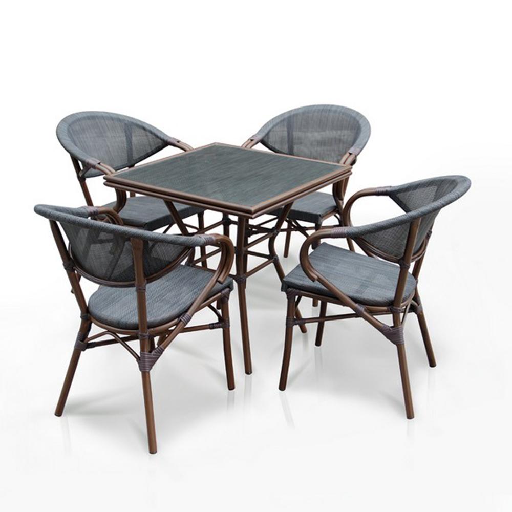 Комплект мебелиКомплекты уличной мебели<br>Стол: D70xW70хH74 см.&amp;amp;nbsp;&amp;lt;div&amp;gt;&amp;lt;span style=&amp;quot;font-size: 14px;&amp;quot;&amp;gt;Стекло: закаленное- 5 мм.<br>Каркас: алюминий D28х1,5 мм с полимерным покрытием.&amp;amp;nbsp;&amp;lt;/span&amp;gt;&amp;lt;div&amp;gt;Столешница текстилен 4х4.&amp;amp;nbsp;&amp;lt;/div&amp;gt;&amp;lt;div&amp;gt;&amp;lt;br&amp;gt;&amp;lt;/div&amp;gt;&amp;lt;div&amp;gt;Кресло (4шт.): W56хВ62xH82 см.&amp;amp;nbsp;&amp;lt;/div&amp;gt;&amp;lt;div&amp;gt;Каркас: алюминий D24/24х1,5 мм с полимерным покрытием.&amp;amp;nbsp;&amp;lt;div&amp;gt;Материал: текстилен 4х4<br>Цвет: brown&amp;lt;/div&amp;gt;&amp;lt;/div&amp;gt;&amp;lt;/div&amp;gt;<br><br>Material: Ротанг<br>Width см: 56<br>Depth см: 62<br>Height см: 82