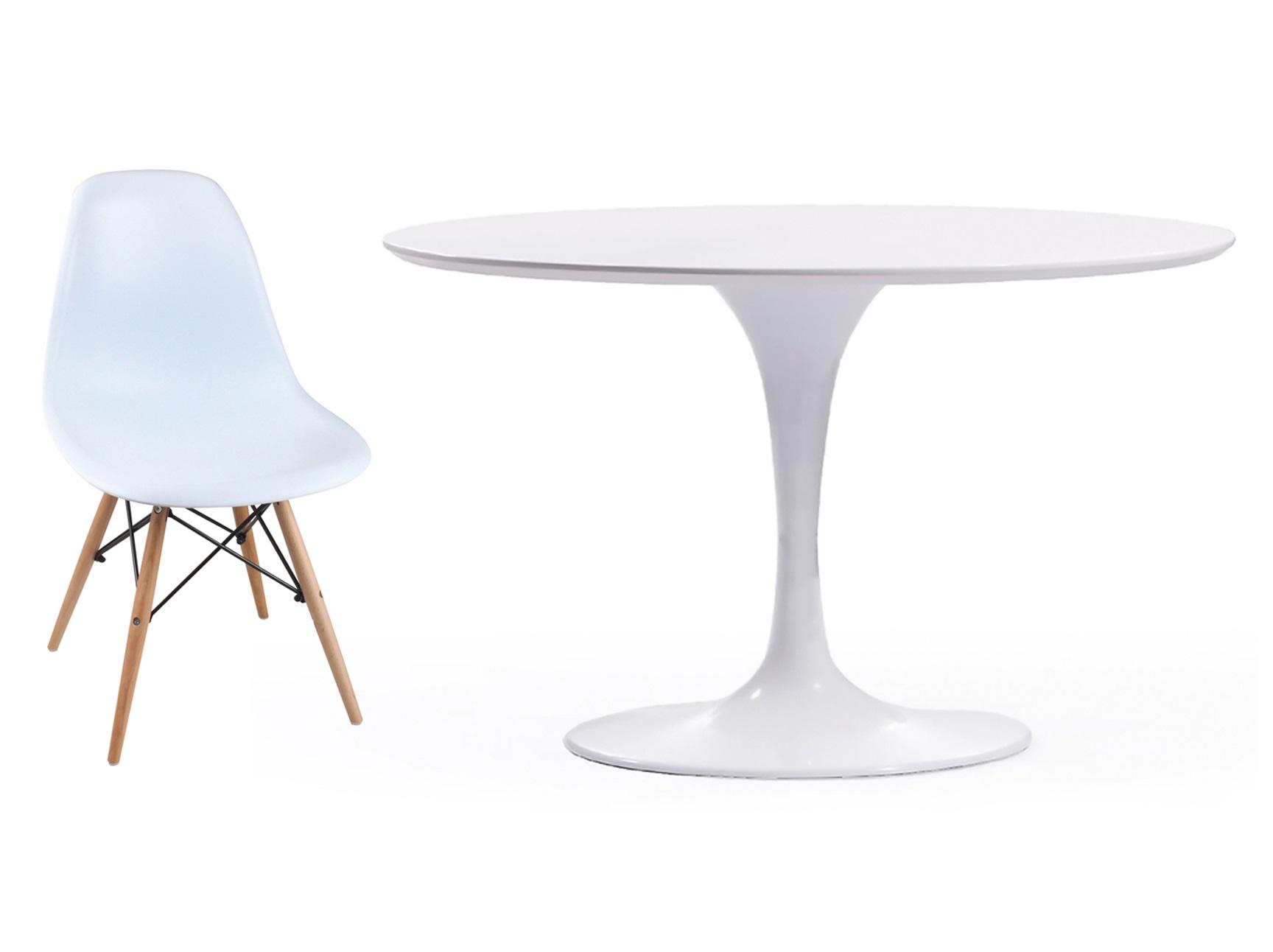 Обеденная группа Apriori T (стол + 4 стула)Комплекты для столовой<br>&amp;lt;div&amp;gt;Обеденный круглый стол с лаконичным основанием из акрилового камня и стулья Eames на деревянных ножках. Классика скандинавского дизайна!&amp;lt;/div&amp;gt;&amp;lt;div&amp;gt;&amp;lt;br&amp;gt;&amp;lt;/div&amp;gt;&amp;lt;div&amp;gt;Размеры стола: 105/77 см&amp;lt;/div&amp;gt;&amp;lt;div&amp;gt;&amp;lt;span style=&amp;quot;font-size: 14px;&amp;quot;&amp;gt;Материал стола: акриловый камень&amp;amp;nbsp;&amp;lt;/span&amp;gt;&amp;lt;br&amp;gt;&amp;lt;/div&amp;gt;&amp;lt;div&amp;gt;Размеры стула: 44/46/80 см&amp;lt;/div&amp;gt;&amp;lt;div&amp;gt;Материал стула: пластик&amp;lt;/div&amp;gt;<br><br>Material: Дерево