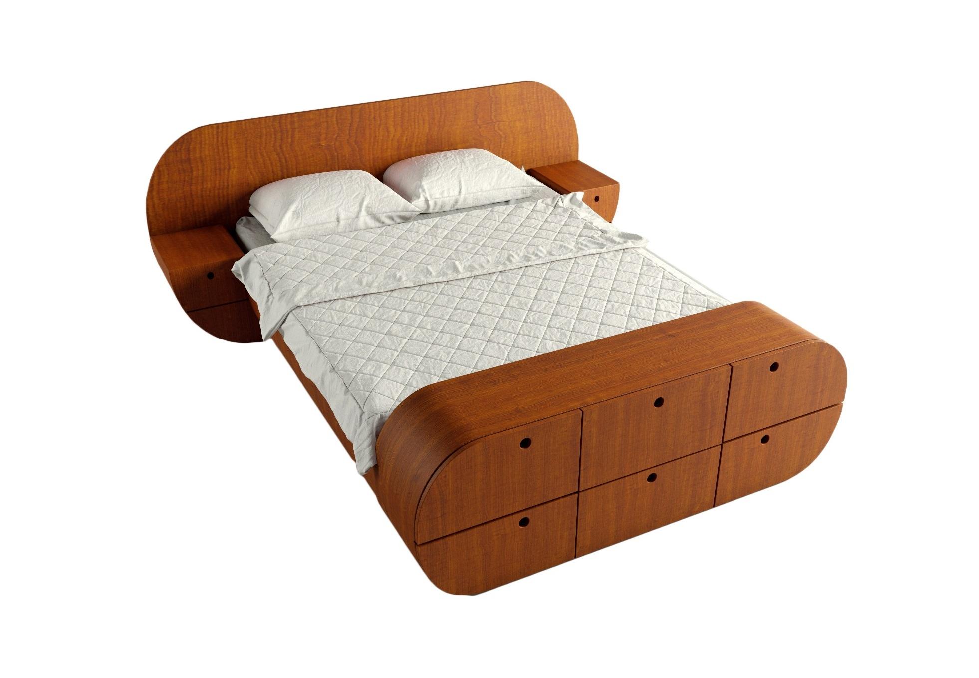 Кровать с тумбами и комодом ЦиклДеревянные кровати<br>Отличный комплект - кровать, 2 тумбы, комод!<br>Представляет собой единую констукцию, изделие покрыто натуральным шпоном, теплый и приятный материал<br>Матрас, белье и подушки в стоимость не входят&amp;lt;div&amp;gt;&amp;lt;br&amp;gt;&amp;lt;/div&amp;gt;&amp;lt;div&amp;gt;Размер спального места: 160см на 200см&amp;amp;nbsp;&amp;lt;/div&amp;gt;&amp;lt;div&amp;gt;Материал: МДФ, шпон<br>Установка не требуется&amp;lt;/div&amp;gt;<br><br>Material: МДФ<br>Width см: 218<br>Depth см: 267<br>Height см: 87