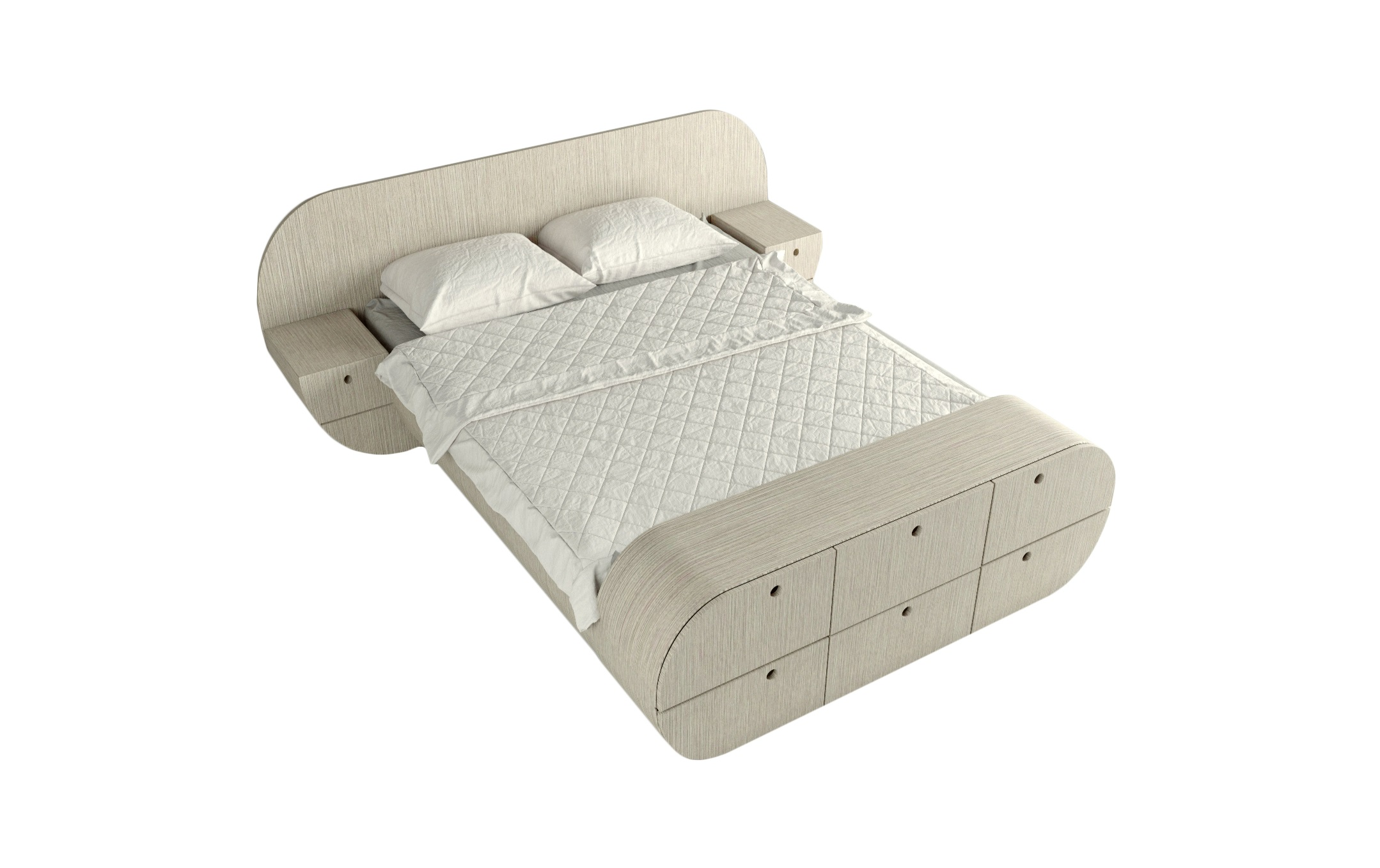 Кровать с тумбами и комодом ЦиклДеревянные кровати<br>Отличный комплект - кровать, 2 тумбы, комод!<br>Представляет собой единую констукцию, изделие покрыто натуральным шпоном, теплый и приятный материал<br>Матрас, белье и подушки в стоимость не входят&amp;amp;nbsp;&amp;lt;br&amp;gt;&amp;lt;div&amp;gt;&amp;lt;br&amp;gt;&amp;lt;/div&amp;gt;&amp;lt;div&amp;gt;Размер спального места:160см на 200см&amp;lt;/div&amp;gt;&amp;lt;div&amp;gt;Материал : МДФ, шпон<br>Установка не требуется&amp;lt;br&amp;gt;&amp;lt;/div&amp;gt;<br><br>Material: МДФ<br>Width см: 218<br>Depth см: 267<br>Height см: 87