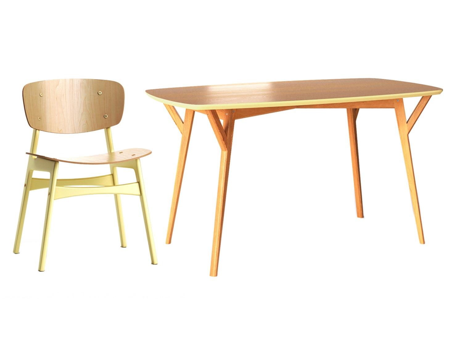 Обеденная группа Proso (стол + 4 стула)Комплекты для столовой<br>&amp;lt;div&amp;gt;&amp;lt;div&amp;gt;&amp;lt;div&amp;gt;Обеденный стол PROSO обладает универсальным дизайном и исключительно устойчивым основанием, что делает его незаменимым в больших семьях и общественных местах. Отсутствие острых углов бережет от нежелательных царапин, а множество вариантов отделок дают возможность создать неповторимую атмосферу.&amp;lt;/div&amp;gt;&amp;lt;/div&amp;gt;&amp;lt;/div&amp;gt;&amp;lt;div&amp;gt;&amp;lt;br&amp;gt;&amp;lt;/div&amp;gt;&amp;lt;div&amp;gt;Обеденный стул SID сочетает в себе гармоничный дизайн и удобство. Он обрадует и эстетов, и прагматиков. Спинка и сидение слегка изогнуты, что обеспечит полный комфорт во время трапезы. Отвлеченную форму повторяют и ножки: они слегка наклонены, придавая нижнему основанию трапециевидную форму. Оригинальный окрас ножек в бежевый послужит цветовым акцентом в интерьере.&amp;lt;br&amp;gt;&amp;lt;/div&amp;gt;&amp;lt;div&amp;gt;&amp;lt;br&amp;gt;&amp;lt;/div&amp;gt;&amp;lt;div&amp;gt;&amp;lt;div&amp;gt;Размеры стола: 140/80/75&amp;lt;/div&amp;gt;&amp;lt;div&amp;gt;Материал стола: дерево&amp;lt;/div&amp;gt;&amp;lt;div&amp;gt;Размеры стула: 54/46/78&amp;lt;/div&amp;gt;&amp;lt;div&amp;gt;Материал стула: дерево&amp;lt;/div&amp;gt;&amp;lt;/div&amp;gt;<br><br>Material: Дерево<br>Length см: 140<br>Width см: 80<br>Depth см: None<br>Height см: 75<br>Diameter см: None
